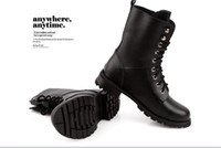 Wholesale Unisex leather boots lovers snow boots shoe women martin boots