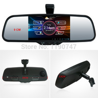 Cheap car dvr Android Rear View Mirror with Parking Camera 5 Inch Screen Dashcam GPS Bluetooth Headset