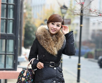 in season clothing - 2014 the new fashion season longer thickening of cultivate one s morality long brand large collars down jacket in women s clothing in winter