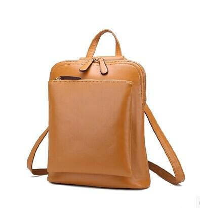 New 2014 Fashion Genuine Leather Women Backpack Leather Backpack ...