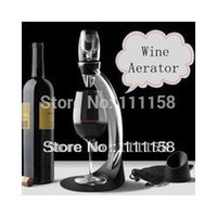Wholesale Deluxe Wine Aerator Tower Set Red Wine Glass Accessories Quick Magic Decanter With Gift Box set DHL