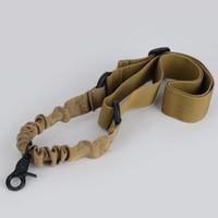 Wholesale Khaki Adjustable Tactical Gun Rifle Sling One Single Point Strap w Metal Hook
