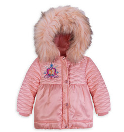 Wholesale NEW Frozen Anna and Elsa Sherpa Winter Jacket for Girls Kids Hooded Coat Children Outerwear Girl Down Parkas