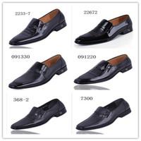 Wholesale 6 style mix men big size High grade Handmade Genuine leather shoe dress shoes loafers shoe big yards