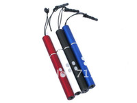 Cheap Wholesale-20Pc Popular High quality Mini LED Keyring Pen Flashlight +Red laser (100%NEW) Free shipping