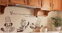 Decal art ceramic tiles - 3D Kitchen Ceramic Tile Decoration Vinyl Art Wall Stickers Decal Mural Home Decor Poster Cooker Portrait Cartoon Characters