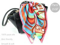 Wholesale Brand new lady silk scarves silk square kerchief pure silk art design whole sales NA3008