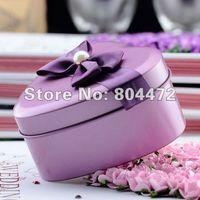 Cheap Wholesale free shipping 100pcs lot European Style Wedding Metal Tin Favor Box with Bow Tie,Mint Tin, -0798