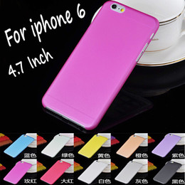 Wholesale 0 mm Transparent Clear Soft PP Hard Plastic PC Frosted Matte Back Case for iPhone S S C G inch iPhone6