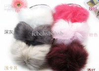 Wholesale Jade Fox Lady Winter Ear Muffs Fox Fur Mix Order High Quality EMS A4