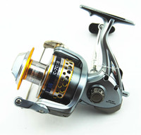 Cheap Luxurious High Speed K7008 Spinning Reel 7+1 BBs Spinning Reel lure Medal Gold Rolling Reel Fishing Tackle Free Shipping