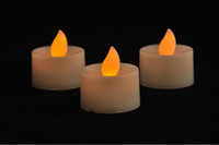 Wholesale Romantic super quality Amber LED Tea Light Flickering Battery Candles Flameless led candle light
