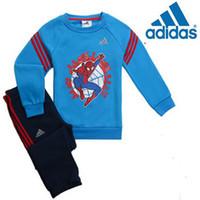 design new tracksuits - New Design children shampooers jogging Spider Man tracksuits sport set long sleeve T shirt pant kids Boys Girls Spring autumn clothes Suit
