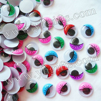 craft materials - cm colorful eyelash wiggle eyes Plastic eyeball Doll eyes Craft material Handmade toys Craft work on stock