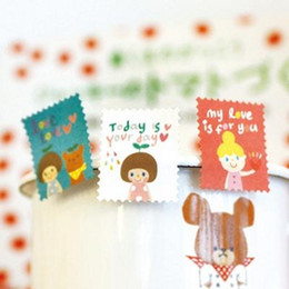 Wholesale New DIY vintage okey tina stamp paper sticker sheets per set note sticker Decoration label