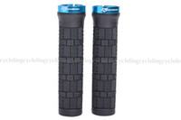 Wholesale ROCKBROS Bike MTB Grips Rubber Handlebar Lock on Grips Fixed Gear Grips Cycle Parts Blue New