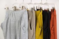 Cheap Free Shipping 2014 new spring fashion women harem high waist wide leg palazzo pants ankle length trousers legging QW123