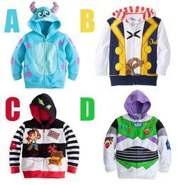Wholesale HOT SALE brand kids jackets coats cartoon clothes terry zipper jackets baby child coat