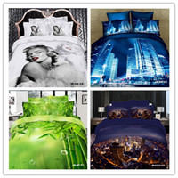 Cheap Christmas Sales free shipping 4 6 pcs 3d duvet cover set bed linen with fitted sheet(Rubber Around) marilyn monroe bedding