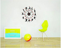 Wholesale EMS Free D Art Clock Sticker Removable Clock Wall Paper Eco Friendly Creative Slamdunk Clock Sticker DIY Fun Clock Poster Sweethome123