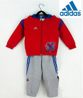 wholesale sports jackets - New Korean children Casual tracksuits sport set baby jogging Spider Man hooded sweater jacket pants boys girls shampooers spring clothes
