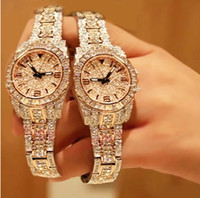 Wholesale 2014 Top Grade Luxury Diamond Crystal Watches Fashion Jewelry Wristwatches Automatic Square Smart Watches RoseGold