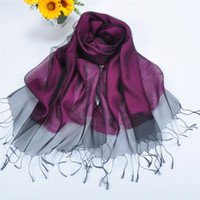 gift - Christmas Best Gift Mulberry Silk Scarf High Quality Two Layer Silk Scarves Super Light Soft