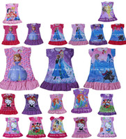 Wholesale IN HAND Frozen Princesses Elsa Anna Dora Doc McStuffins Olaf Sofia Tinkerbell party night home dress Children clothes