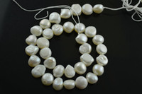 Wholesale 10 m white pearl Big baroque flat oval beads for DIY Fashion jewelry making