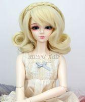 Wholesale Sweet Wig for SD DOD BJD Dollfie Doll Short Curly Wig Hair blonde color