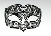 Wholesale 40pcs Man Mask Design Venetian Metallic Laser Cut Man Masquerade Ball Masks No Rhinstones
