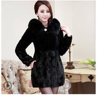 Cheap Women Fur fur coat Best Fur Long Sleeve haining mink