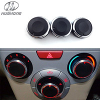 Wholesale Car AC Knob Air Conditioning heat control Switch knob Aluminum alloy decoration accessories suitable for Chery Celer fulwin