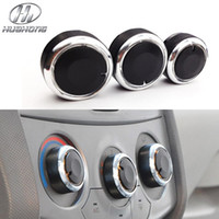 Wholesale Car AC knob Air Conditioning heat control Switch knob Aluminum alloy decoration accessories case for Aveo Lova Sonic