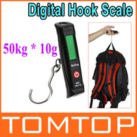 Wholesale 50kg g LCD Display Digital Portable Travel Luggage Fishing Weight Hook Hanging Scale dropshipping