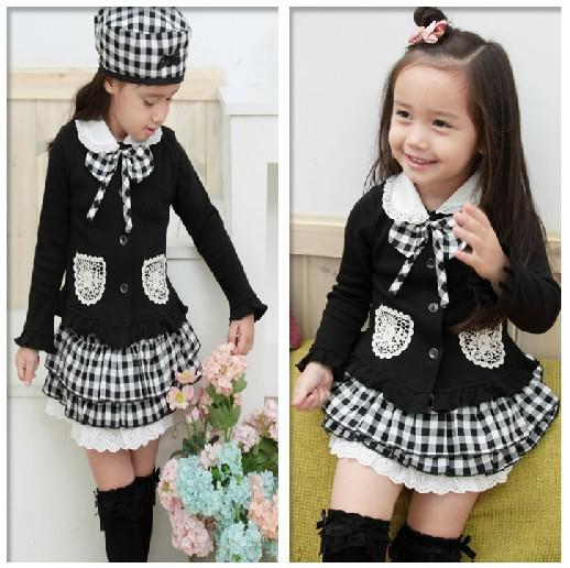 Wholesale Nuevos niños de estilo Vintage College ropa niña 3 pcs ...