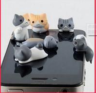 3. 5mm cheese cat anti dust plugy cute cartoon design mobile ...