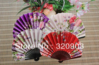 Wholesale assorted colors seashell shape design wedding silk hand fans gift favor