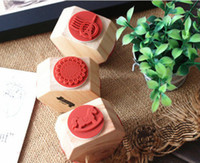 Wholesale New vintage Trojan lace Tower quality diy wooden rubber stamp funny gift diy stamp surface designs