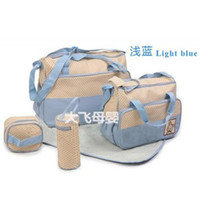best designer diaper bags - 2014 Cheap Waterproof Diaper Bags Light Blue Tote Diaper Bags Best Designer Durable Diaper Bags Polka Dot SET Diaper Bags for Baby