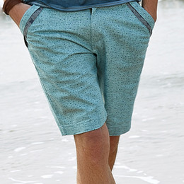 Wholesale 2014 European and American summer fashion men shorts brand casual pants Young Slim linen pants tide polka dot shorts