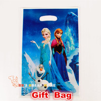 Cheap Frozen movie Elsa Anna kid boy girl baby happy birthday party decoration supplies favors frozen candy gift loot bags 60 people