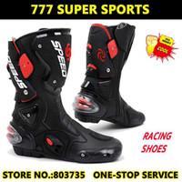 Wholesale 100 Original Speed Genuine Leather Motorcycle Footwear Sport Boot Motocross Shoes Racing Cycling Gears Sports Shoe B001