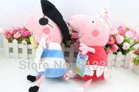 Wholesale CM big size Peppa Pig Plush Doll Ballerina Peppa Pirate Geogre quot Retail