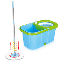 spin mop - Smart Hand Press Spin Easy Magic Mop Super Mop Rotating Pole Bucket Microfiber Heads housekeeper dust mop for car floor