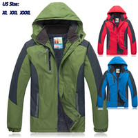 nylon windbreaker jacket - 2014 New Big Size Nylon Windbreaker Jackets for men Helly Jacket Black Yak Clothing Polartec Camping Ski Elastic CloserCuff