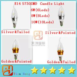 Led Candle Light E14 5730SMD Leds 6W(6Leds) 8W(8Leds) 10W(10Leds) Warm White Cool White Energy Saving