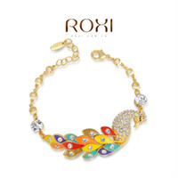 Wholesale ROXI Christmas Gift Classic women animal bracelet clear Austrian Crystals Gold Rose Gold Plated jewelry new year gift AN