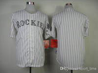Wholesale Rockies Blank Baseball Jersey White Home Jersey with Purple Pinstripe Authentic Baseball Wears New Arrival Baseball Uniform