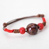 Wholesale Jingdezhen Ceramic original word rosary beads bracelet bracelet Buddhist faith jewelry supply